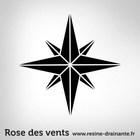Motif rose des vents